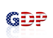 United States GDP 3D text Royalty Free Stock Photo
