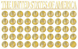 50 United States Gold Coins Stock Images