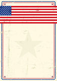 United states grunge poster Royalty Free Stock Photos