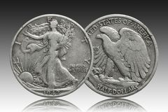 United States half dollar 1942 silver coin royalty free stock images