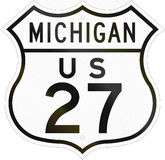 United States Highway Michigan Stock Photography
