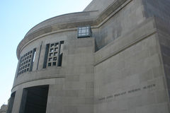 United states holocaust memorial museum. Washington, dc. front entrance and name carved in wall Stock Images