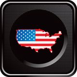 United states icon flag on black web button Royalty Free Stock Image