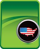 United states icon on green background Stock Images
