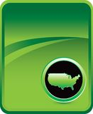 United states icon green background Stock Photography