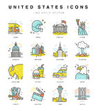 United States Icons Royalty Free Stock Images