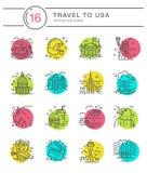 United States Icons Stock Image