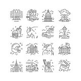 United States Icons Stock Images