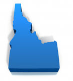 United States Idaho Map Outline. On a white background. Clipping path included Royalty Free Stock Photos