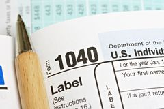 United States Income Tax Form 1040 Stock Photos
