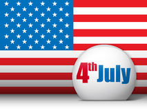 United States Independence Day Background. Vector - United States Independence Day Background Royalty Free Stock Photos