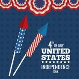 United states independence day celebration firework. Vector illustration eps 10 Stock Photo