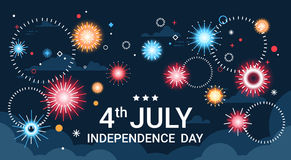 United States Independence Day Holiday 4 July Banner Greeting Card Royalty Free Stock Images