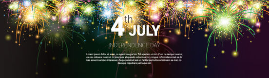 United States Independence Day Holiday 4 July Banner Greeting Card Royalty Free Stock Photography