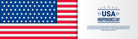 United States Independence Day Holiday 4 July Greeting Card Stock Images
