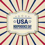 United States Independence Day Holiday 4 July Greeting Card Royalty Free Stock Images