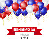 United States Independence Day Holiday 4 July Greeting Card Royalty Free Stock Photos