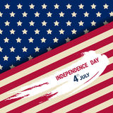United States Independence Day Holiday 4 July Greeting Card. Flat Vector Illustration Royalty Free Stock Photography