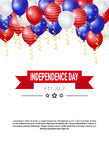 United States Independence Day Holiday 4 July Greeting Card. Flat Vector Illustration Stock Image