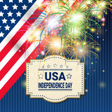 United States Independence Day Holiday 4 July Greeting Card Stock Photography