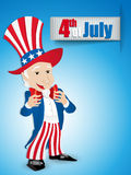 United States Independence Day Uncle Sam. Vector - United States Independence Day Uncle Sam Royalty Free Stock Photo