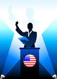 United States Leader Giving Speech on Stage Royalty Free Stock Photo