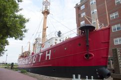 United States Lightship Portsmouth (LV-101). Portsmouth Naval Shipyard Museum, Portsmouth, Virginia, USA Royalty Free Stock Photo