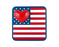 United States of Love Royalty Free Stock Image
