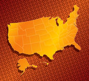 United states map 03. A stylized monochromatic  map of the united states of america Royalty Free Stock Images