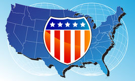 United States Map Royalty Free Stock Photography