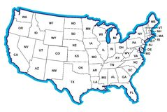 Free United States Map Royalty Free Stock Photo - 465335