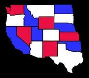 United States Map. Western states isolated on black background Royalty Free Stock Image