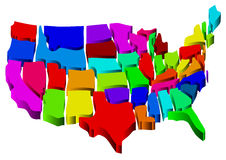 United states map Royalty Free Stock Photos