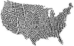 United States Map Fingerprint Stock Photo