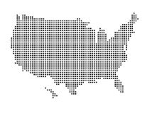 United States map. With pixels. isolated in white background vector illustration