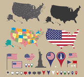 United states map Stock Image