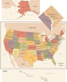 United States Map - Vector Illustration Stock Image