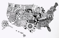 United States Map stock photography