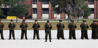 United States Marine Corps Graduates in step Royalty Free Stock Photography