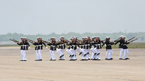 United States Marine Corps Silent Drill Team. At the Wings Over South Texas Air Show, Kingsville, Texas Stock Photo