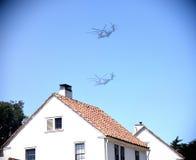 United States Marines Buzzing Houses Stock Image