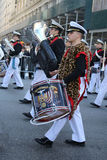 United States Merchant Marine Academy marching at the St. Patrick`s Day Parade in New York. Stock Photography