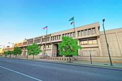 United States Mint Building of Philadelphia PA. Philadelphia, USA - May 5, 2015: United States Mint Building of Philadelphia PA, Pennsylvania, the USA royalty free stock images