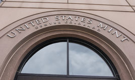 United States Mint in Denver. Entrance to the United States Mint in Denver Colorado Royalty Free Stock Image