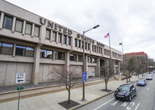 United States Mint in Philadelphia - PHILADELPHIA - PENNSYLVANIA - APRIL 6, 2017. United States Mint in Philadelphia - PHILADELPHIA - PENNSYLVANIA Royalty Free Stock Images