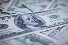 United States money. US currency. American greenback dollar notes Stock Photo