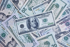 United States money. US currency. American greenback dollar notes Stock Photography