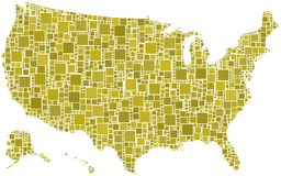 United States in a mosaic of squares Stock Image