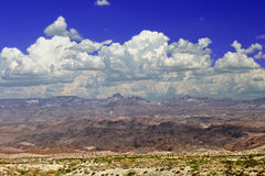 United States Mountainous Desert Landscape. Wide open spaces of the mountainous Nevada desert in the southwestern United States Stock Photography
