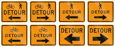 United States MUTCD road sign - Detour.  Stock Photo